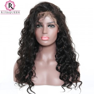 13X6 Deep Part Wig Loose Wave Lace Front  Wig Brazilian Virgin Human Hair preplucked Natural Hairline With Baby Hair Full Lace Cap Full Ends 250% Density