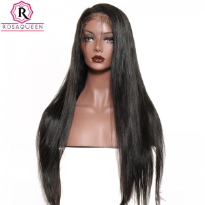 13X6 Deep Part Wig Straight Lace Front  Wig Brazilian Virgin Human Hair preplucked Natural Hairline With Baby Hair Full Lace Cap Full Ends 250% Density