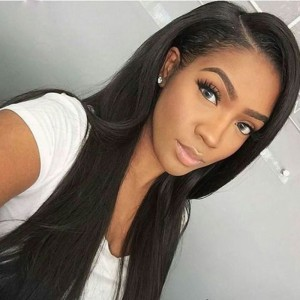 360 Lace Frontal Closure Silky Straight Brazilian Virgin Hair Lace Frontal Natural Hairline 22.5*4*2