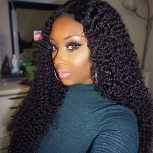 250% High Density Deep Curly Human Wigs with Baby Hair for Black Women Natural Hair Line Full Lace Human Hair Wigs