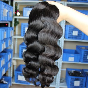 Body Wave European Virgin Human Hair Weave Natural Color 3 Bundles