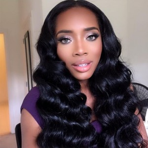 Natural Color Unprocessed Indian Remy 100% Human Hair Body Wave Full Lace Wigs