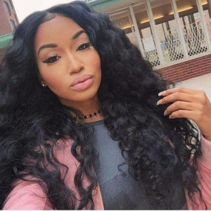 Lace Front Human Hair Wigs 100% Brazilian Virgin Human Hair Wig Body Wave Pre-Plucked Natural Hair Line