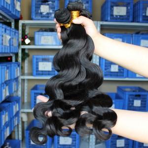 Natural Color Body Wave Brazilian Virgin Human Hair Weave 2Pcs Bundles