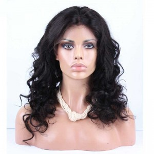 Brazilian Virgin Hair Big Body Curly Lace Front Human Hair Wigs Natural Color