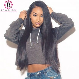 360 Frontal Closure With 2 Bundles Straight Brazilian Virgin Hair 360 Lace Frontal
