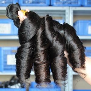 Natural Color Egg Curl Brazilian Virgin Human Hair Weave 4pcs Bundles