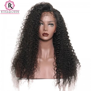 360 Lace Wigs 180% Density Full Lace Wigs 7A Brazilian Deep Curly Human Hair Wigs