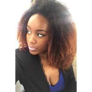 Mongolian Afro Kinky Curly Virgin Human Hair Weave Natural Color 3 Bundles
