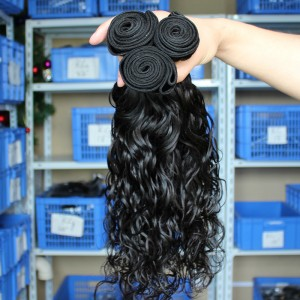 European Virgin Human Hair Water Wave Hair Weave Natural Color 3 Bundles
