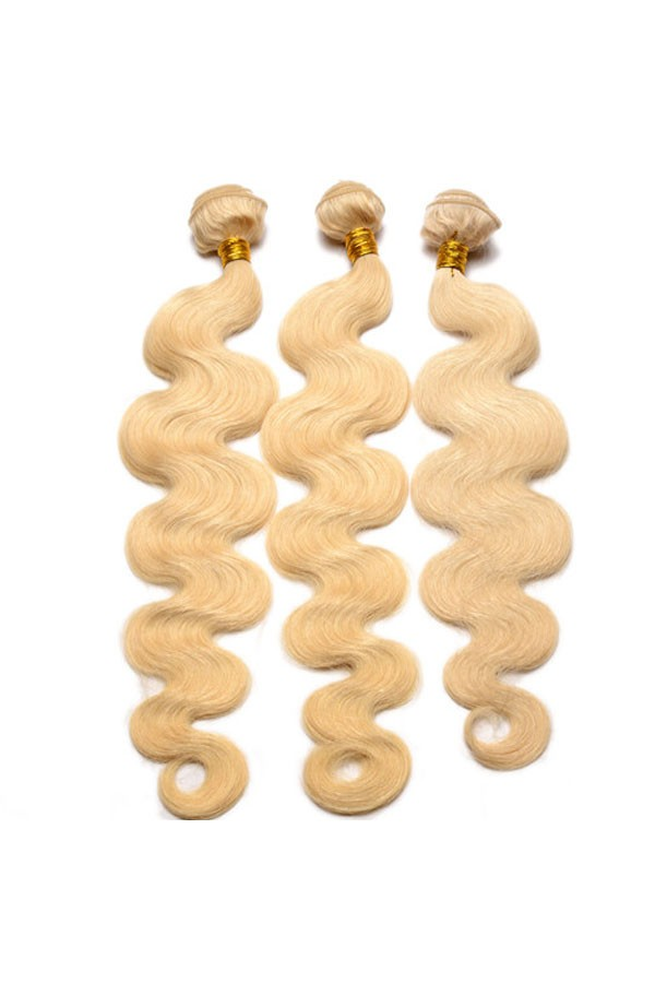 Platinum Blonde Virgin Hair 613 Color Body Wave Brazilian Virgin