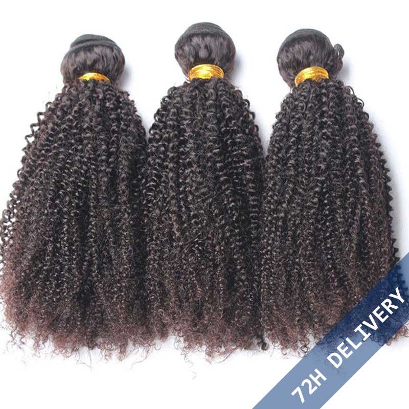 Natural Color Brazilian Virgin Human Hair Afro Kinky Curly Hair