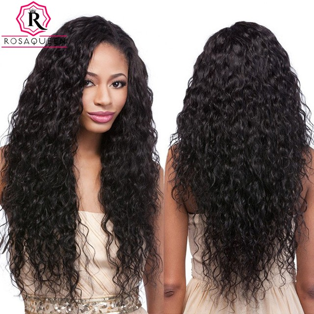 150 Density Wigs Brazilian Wet And Water Wavy Lace Front Ponytail Pre
