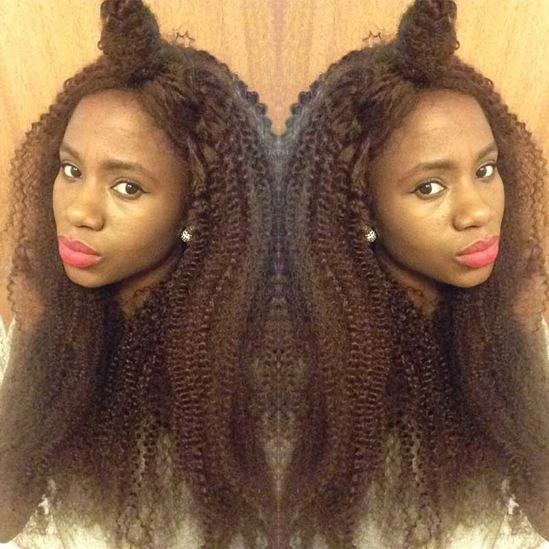 1B Color Brazilian Virgin Human Hair Afro Kinky Curly Full Lace Wigs 20 Inch 686e58307a