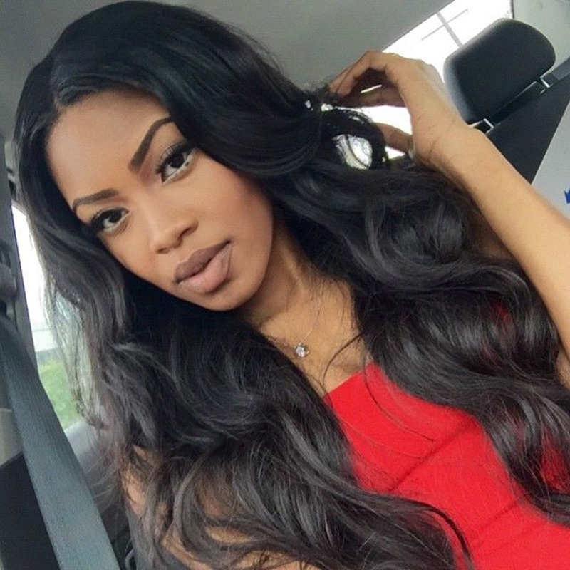 250% Density Wigs Pre-Plucked Full Lace Wigs Human Hair Lace Front Wigs  Black a03518a192