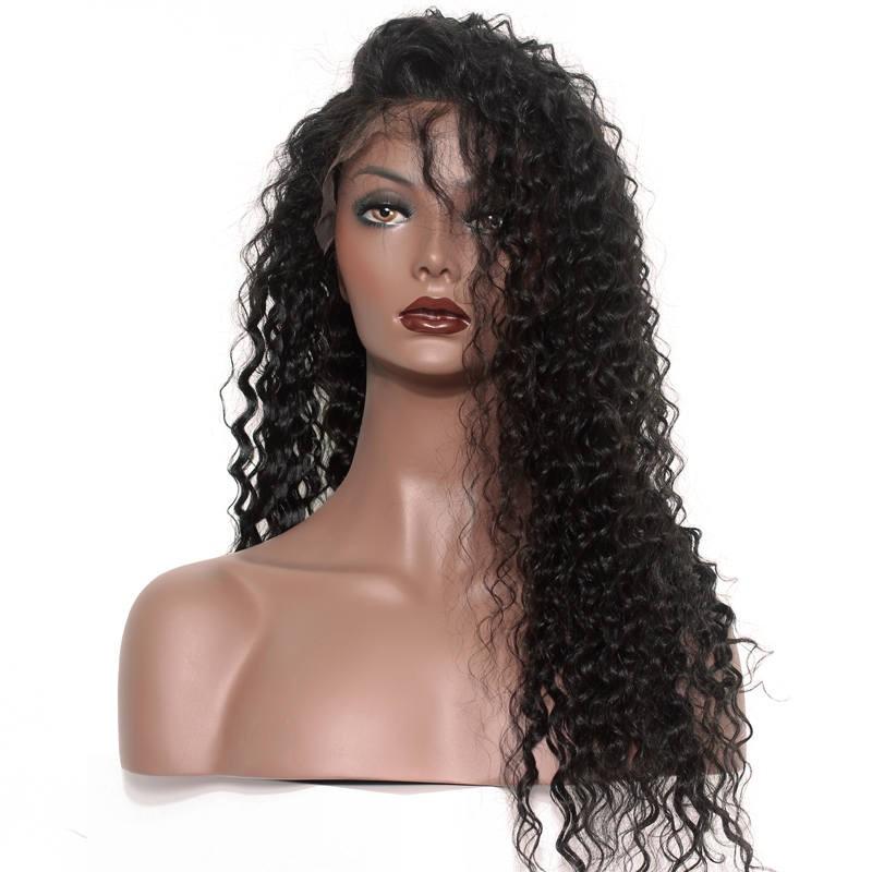 Natural Color High Quality 100 Brazilian Virgin Human Hair Wig Deep