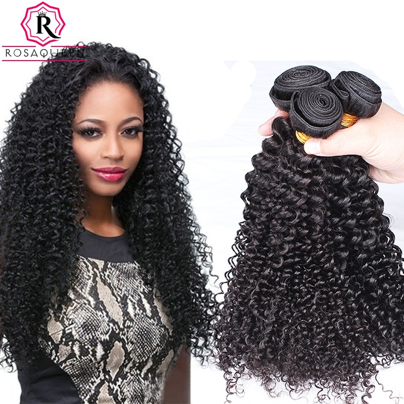 Natural Color Brazilian Virgin Hair Kinky Curly Hair Weave 3 Bundles