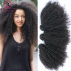 Mongolian Afro Kinky Curly Hair Bundles 3Pcs/Lot Natural Color Top Quality Virgin Hair