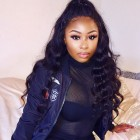 360 Lace Wigs 180% Density Full Lace Wigs 7A Brazilian Body Wave Wavy Human Hair Wigs 360 Ponytail Wig