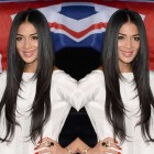 Nicole Scherzinger Celebrity Lace Wig Natural Color Silk Straight Lace Wigs