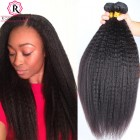 Brazilian Kinky Straight Hair Bundles Virgin Hair 3 Pieces/Lot Natural Color