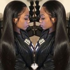 360 Lace Wigs 180% Density Full Lace Human Hair Wigs 7A Brazilian Hair Straight Human Hair Wigs