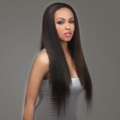 Natural Color Light Yaki Brazilian Virgin Hair Lace Front Human Hair Wigs