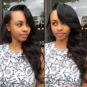 Natural Color Body Wave Brazilian Virgin Hair 100% Human Hair Full Lace Wigs