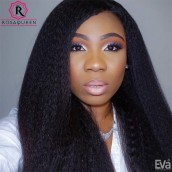 Brazilian Virgin Hair Kinky Straight Full Lace Human Hair Wigs For Black Women