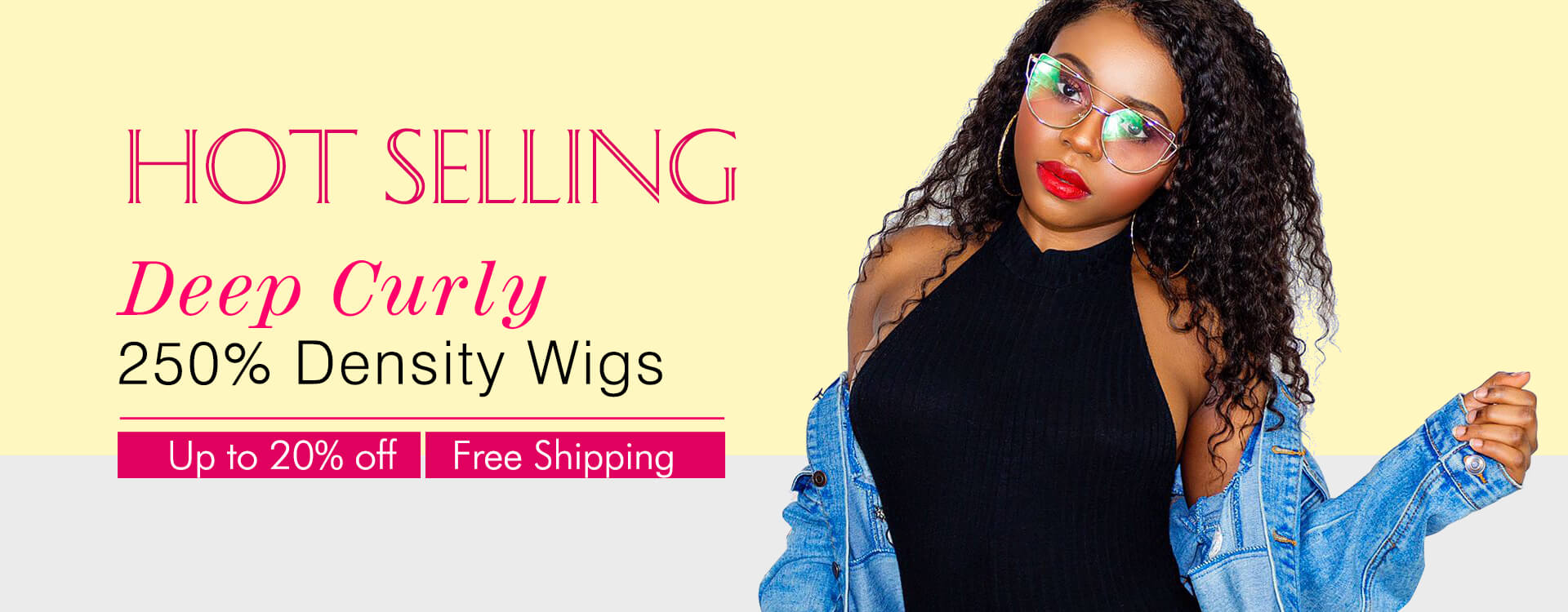 250% Density Deep Curly Wig